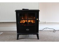 DIMPLEX Electric fire stove, log effect, remote control. Little used as new.
