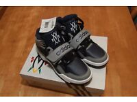 Adidas High Tops - Youth size 5.5 - Navy and Grey