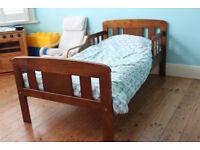Toddler Bed with Mattress, Duvet & Linen