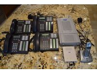 NORTEL Phone System + BT PHONES 5 HANDSETS