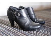 Black Leather Ankle Boots size EU 36 (UK 3.5/4) 5 cm Heel