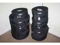 FIVE Protection Racket Drum Kit Cases 12in/13in/16in +14in Snare +20 in Deep Bass Drum Case from £25