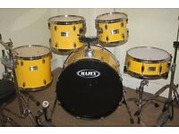 Mapex V Series Yellow 5 Piece Drum Kit - DRUMS ONLY