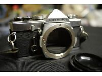 Olympus OM-1 SLR, mechanical shutter, OM mount, manual focus