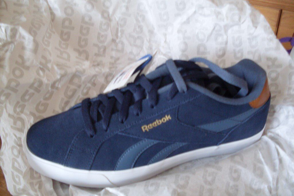Reebok Royal Complete 2LS Mens Trainers Size 9 Navy Blue Running Shoes  Jogging Gym 852779459