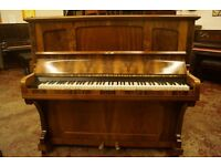Walnut upright piano for spares or repair / project / furniture piece - Can deliver