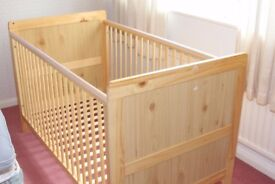 Mothercare Cot - converts to single bed, good condition (only used for 1 child).