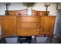 Queen Anne Style Antique Sideboard