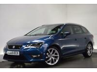 SEAT LEON 2.0 TDI FR TECHNOLOGY DSG [18 ALLOYS] 5d AUTO 184 (blue) 2015