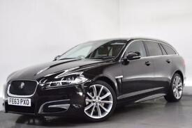 JAGUAR XF 2.2 D SPORT SPORTBRAKE 5d AUTO 200 BHP (black) 2013