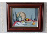 Small still life oil painting by listed artist Ronald A.H. Craig RSW (1927 - 2012)