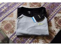 ASICS LS GRAPHIC Gym / Running / Workout top. New, unworn, tagged. Size small. Black & grey.