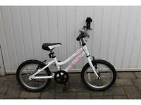 Girls 16 Inch Ridgeback Melody Bike Good Condition With Stabilisers Age 4-7