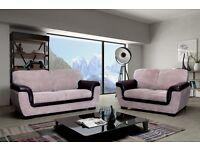 lazar sofa 3 and 2 seater brown beige mink cream jumbo cord
