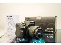 Pentax K-30 K30 DSLR Black 18-55 F3.5-F5.6 Kit Lens