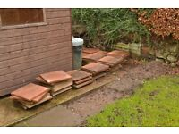 Red Brick Coloured paving slabs FREE !!