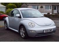 Silver vw beetle 1.6, mot, cd, 89,000 miles, service history