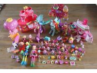 Huge My Little Pony Bundle Wheel, Hair Spa, Hot Air Balloon, Flipping Rainbow Dash