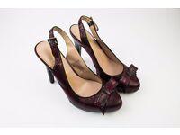 Red Slingback High Heeled Shoes