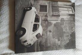 Black/White canvas picture