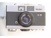 Rollei B35 Vintage Camera with strap and case