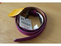 Zara Leather Purple Belt Brand New