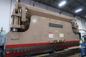Cincinnati Model 90 FM 1110 90 Ton 12' Hydraulic Brake Press w/Cincinnati Form Master Li Controls Back Gauge & Feed Tabl