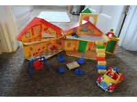 Noddy house and car and noddy figures