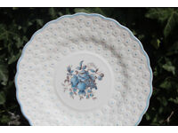 Unusual Vintage Cake / Sandwich Plate Spode Copeland 1940 Retro Raised Flowers