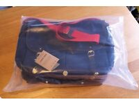 Brompton Game Bag with Frame & Rain Cover Navy Blue and Red details QGB-NB BNIB