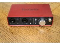 Focusrite Scarlett 2i2 Audio Interface - *As new* - 2 Years warranty remaining