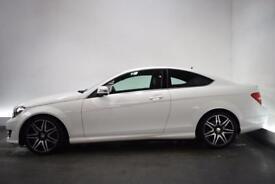 MERCEDES-BENZ C-CLASS 2.1 C250 CDI BLUEEFFICIENCY AMG SPORT PLUS 2d AUTO (white) 2013