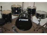 Sonor Extreme Force Black 5 Piece Drum Kit - DRUMS ONLY