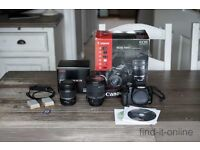 Canon 500D + Two lenses + Accessories (one lens is a Sigma 17-55mm 2.8)