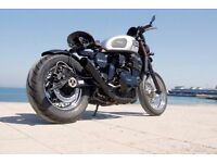 UniqueTriumph Trident 900 triple Cylinder Bobber. Custom Bespoke one off Motorcycle p/ex considered