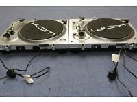 KAM ddx750 Direct Drive record decks x 2 plus assorted light boxes as seen in pictures.