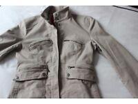 John Rocha jacket, Dark Beige/Khaki, lined & machine washable.