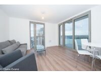 DESIGNER FURNISHED 11TH FLOOR 2 BED 2 BATH APARTMENT ROYAL DOCKS E16 WATERSIDE HEIGHTS - RIVER VIEWS