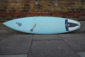 Resin 8 Sam Egan Epoxy Surfboard 6'6, 19, 2 1/2 Great Condition