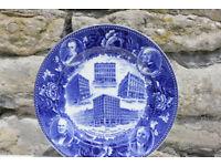 Rare Wedgwood Plate 1910 Company History Jones McDuffie & Strattan Boston USA Blue & White Wedgewood