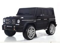 Kids Electric Ride On Car Jeep Licensed Mercedes G65 G Wagon UK Exclusive Matte Black 12v R/C