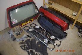 Golf mk 2 , job lot of parts, front grills. rear boot door. internal handles.sun visors etc
