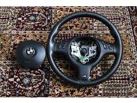 Original BMW E46 E53 E39 M Sport 325I Steering Wheel And Airbag UK