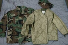 Woodland Camo M65 Field Jacket + Detachable Quilted Coldweather Liner
