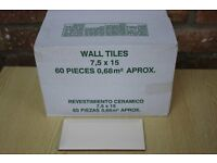 2 Boxes Ceramic Gloss Bevelled Edge Wall Tiles - Brand New