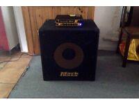 Mark Bass Little Mark III amplifier and Mark Bass STD 151 HR lightweight speaker cabinet