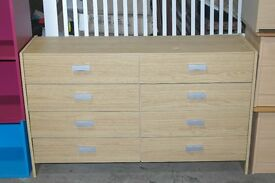 BRAND NEW CAPELLA 4+4 DRAWER CHEST IN OAK......