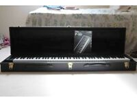 YAMAHA P80 stage piano and ROLAND KC300 amplifier with pedal, power connector and instruction manual