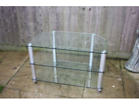 Glass TV stand / TV table