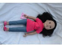 Designa Friend Doll - curly black hair